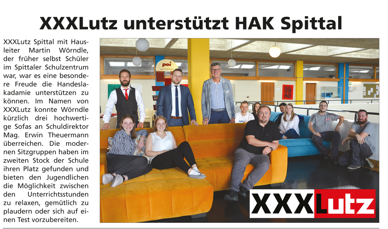 XXXLutz unterstützt HAK Spittal